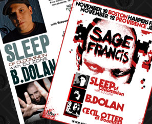 Sage Francis, Sleep, Cecil Otter, B. Dolan NEW ENGLAND SHOWS!
