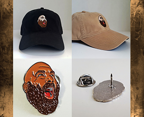 New Sage Francis LAPEL PINS & DAD HATS!