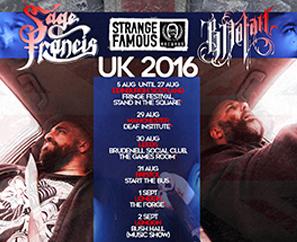 Sage Francis & B. Dolan UK TOUR + EU Shows this summer!